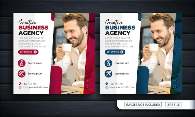 Flyer of social media post themed business agency Premium Vector