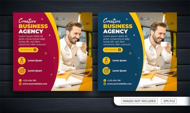 Flyer of social media post themed business agency Premium Vector