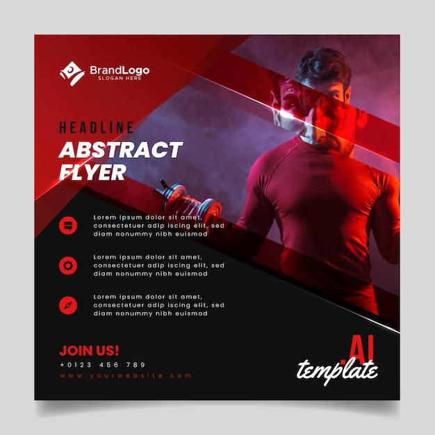 Flyer sjabloon abstracte stijl Gratis Vector