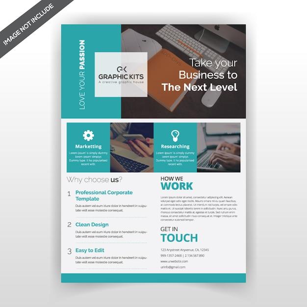Flyer sjabloon voor bedrijven Premium Vector