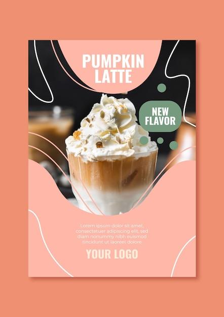 Flyer-sjabloon voor coffeeshop Gratis Vector