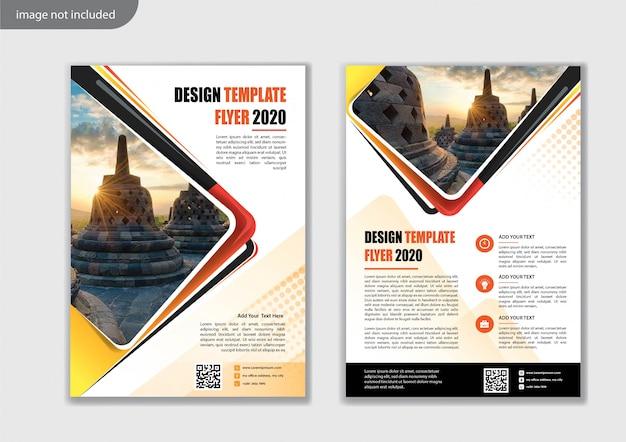Flyer sjabloonontwerp voor cover layout jaarverslag Premium Vector