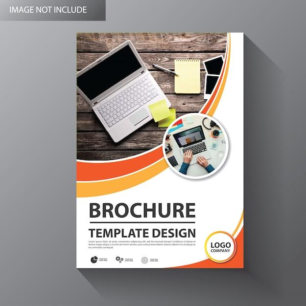 Flyer sjabloonontwerp voor dekking brochure Premium Vector