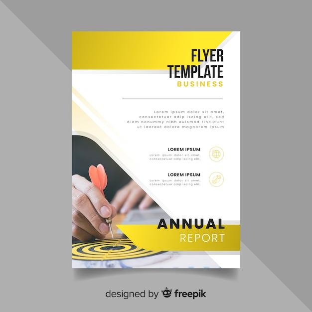 Flyer zakelijke sjabloon met foto Gratis Vector