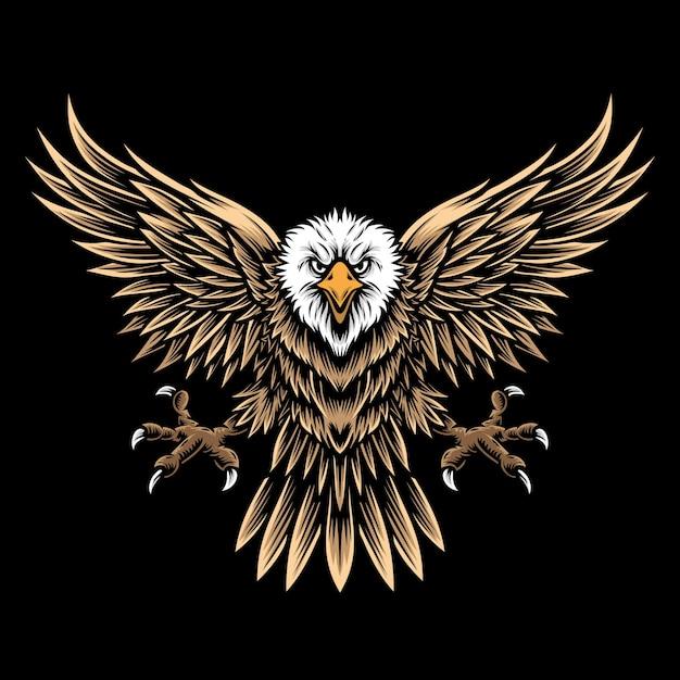 Flying eagle en logo Premium Vector