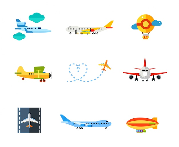 Flying icon set Gratis Vector