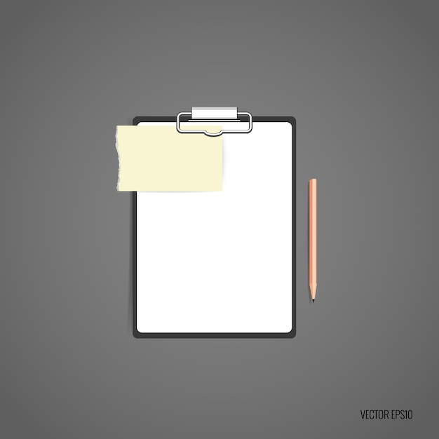 Folder met wit papier Gratis Vector