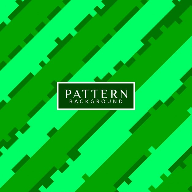 Fondo patrón abstracto, verde Gratis Vector