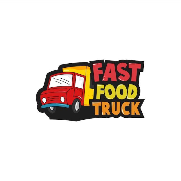 Food truck-logo Premium Vector