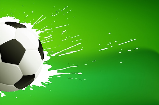 Footbal; of voetbal groene achtergrond met tekstruimte Gratis Vector