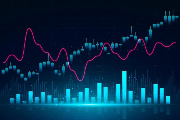 Forex trading achtergrond Gratis Vector