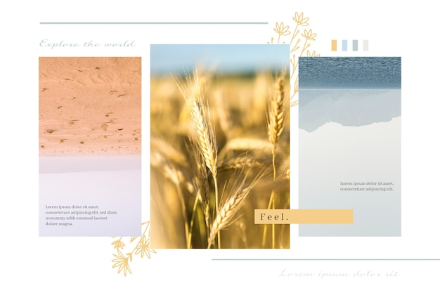 Foto collage concept Gratis Vector