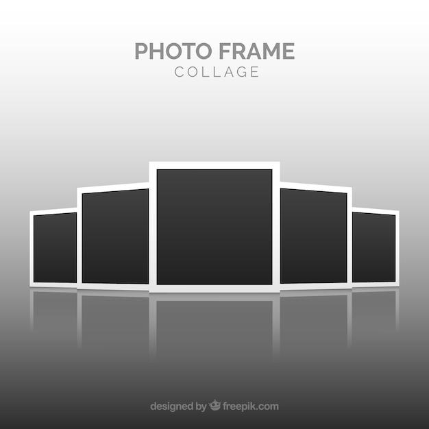Foto frame collage concept Gratis Vector