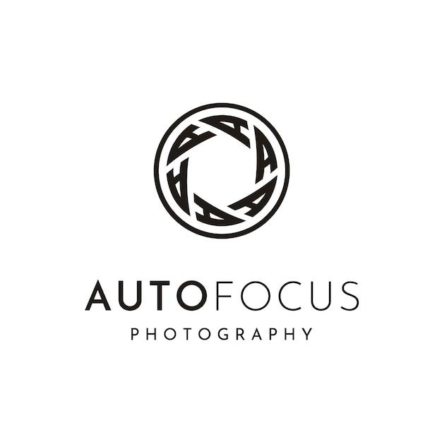 Fotograaf logo ontwerp Premium Vector