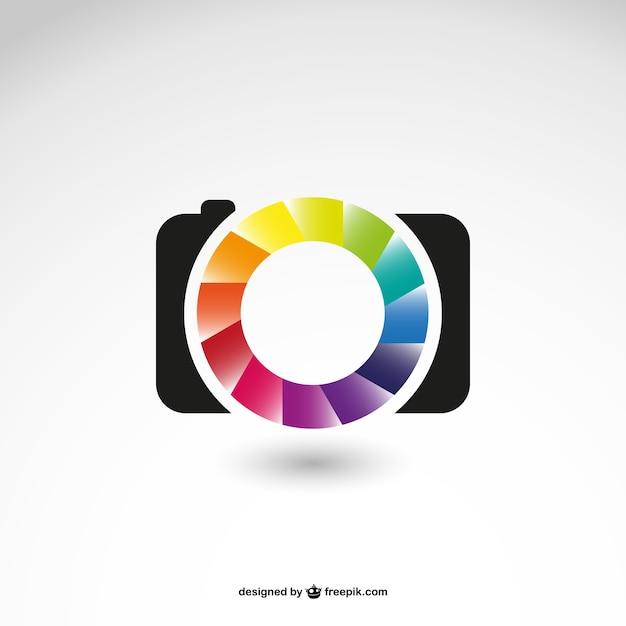 Fotografie bedrijf embleempictogram Gratis Vector