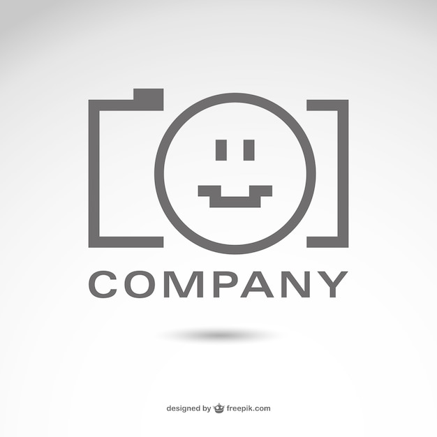 Fotografie bedrijfslogo vector Gratis Vector