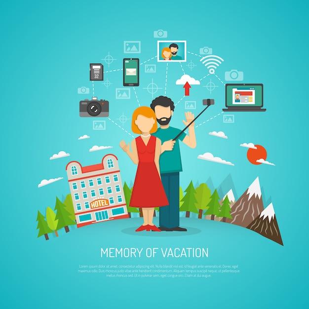 Fotografie concept plat Gratis Vector