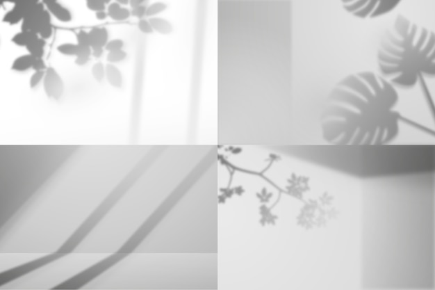 Fotografie-editor programma schaduwen overlay effect met planten Gratis Vector