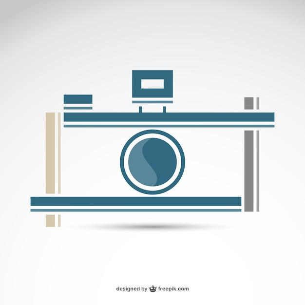 Fotografie retro camera logo gratis Gratis Vector
