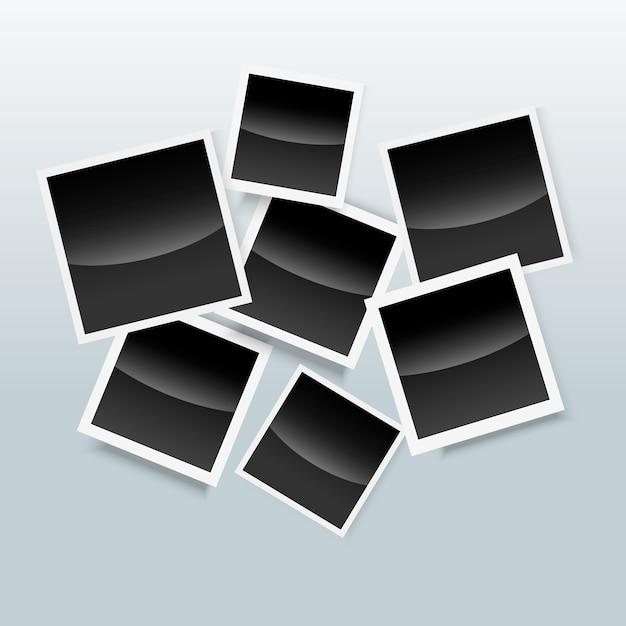 Fotolijst collage polaroid concept Gratis Vector