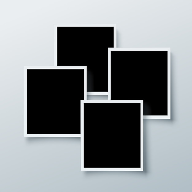 Fotolijst collectie Gratis Vector