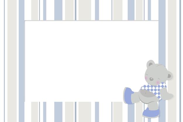 Fotolijst met kinderontwerp voor pasgeborenen Premium Vector