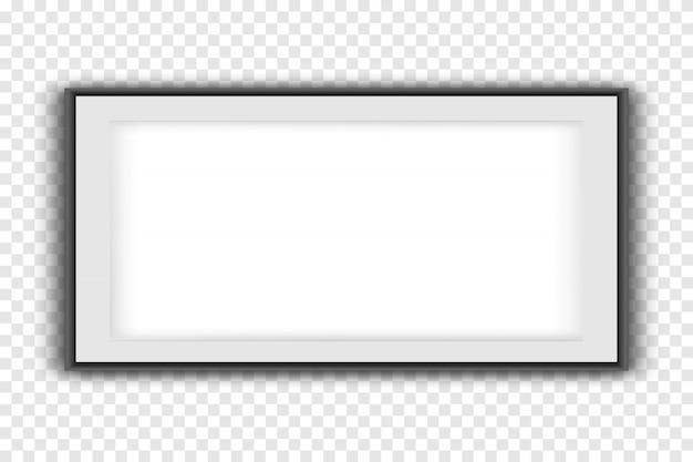 Fotolijsten geïsoleerd op wit, realistische vierkante zwarte frames mockup. lege witte fotolijst mockup sjabloon geïsoleerd op neutrale achtergrond. Premium Vector