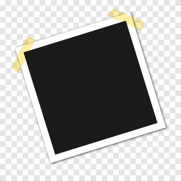 Fotolijsten op plakband, pinnen Premium Vector