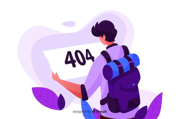 Fout 404-concept voor bestemmingspagina Gratis Vector