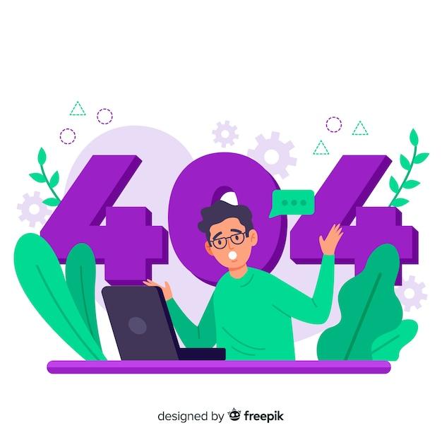 Fout 404 conceptillustratie Gratis Vector