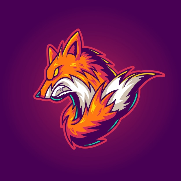 Fox gaming-logo Premium Vector