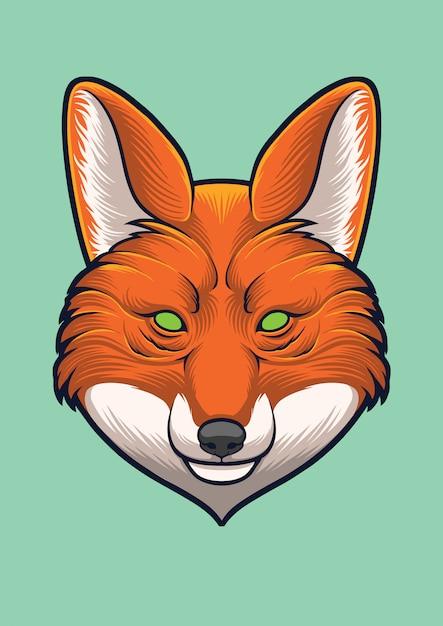 Fox head vector ontwerp illustratie Premium Vector