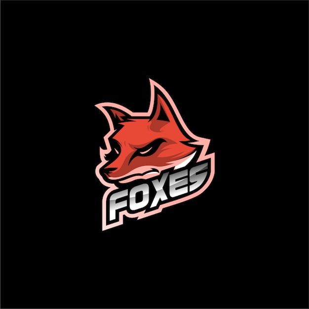 Fox logo ontwerp vector Premium Vector