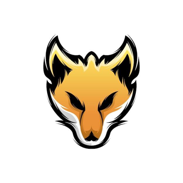 Fox logo ontwerp Premium Vector