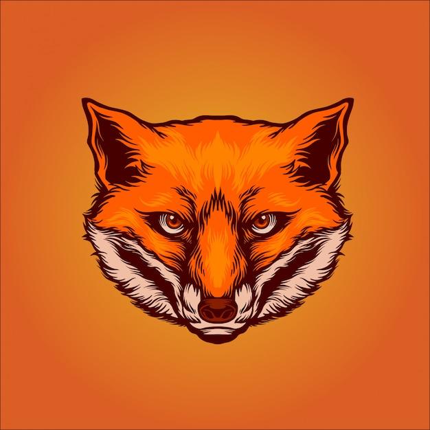 Foxy Premium Vector