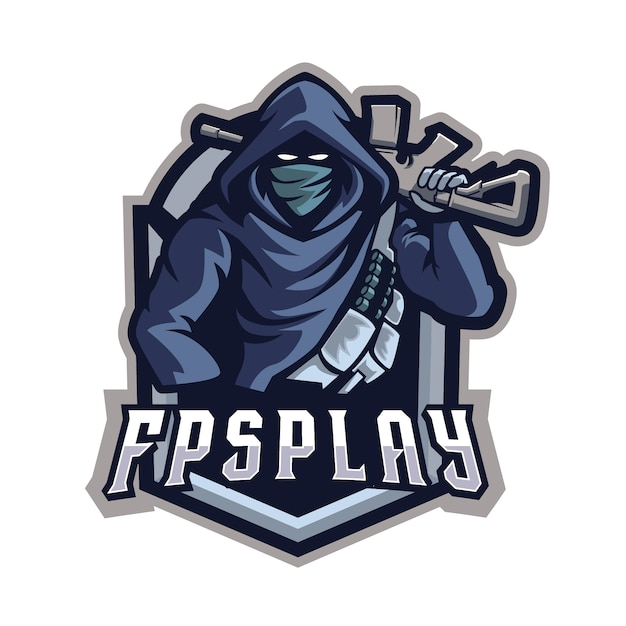 Fpsplay e sports-logo Premium Vector