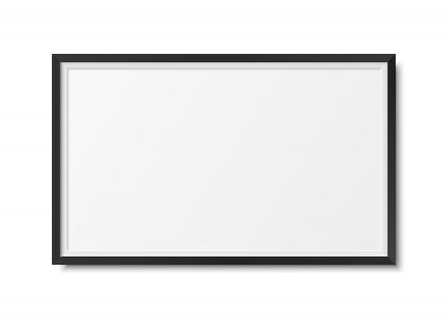 Frame foto realistisch Premium Vector