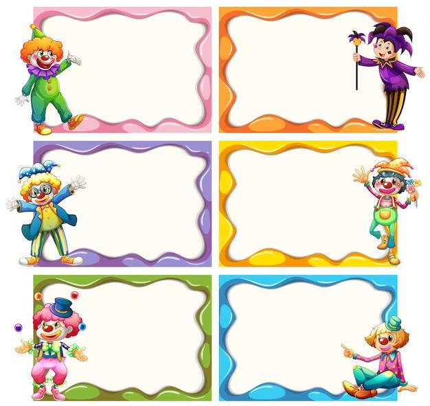 Frame sjabloon met jesters Gratis Vector