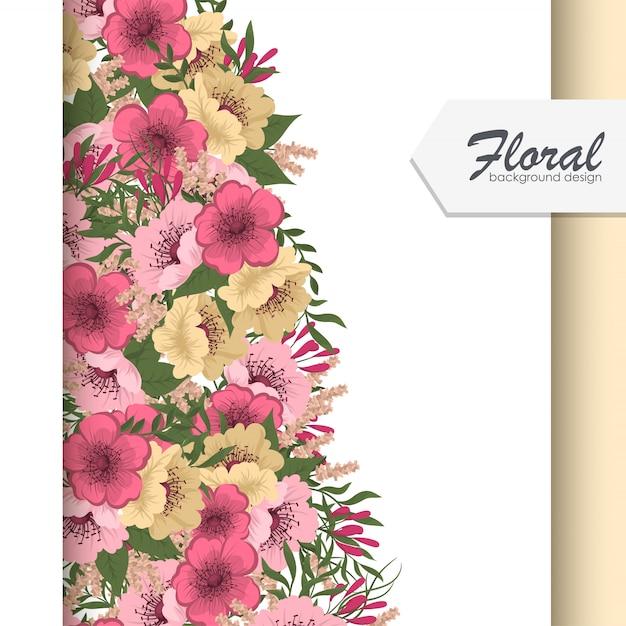 Frame van bloemen Gratis Vector