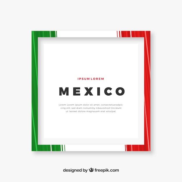 Frame van mexico Gratis Vector