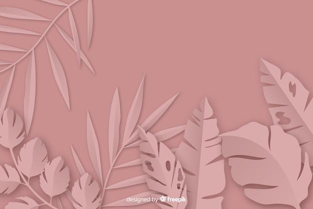 Frame van zwart-wit papier met palmbladen Gratis Vector