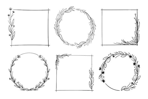 Frames geïsoleerd op een witte achtergrond Gratis Vector