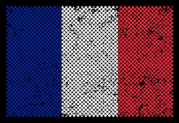Frankrijk grunge vlag Premium Vector