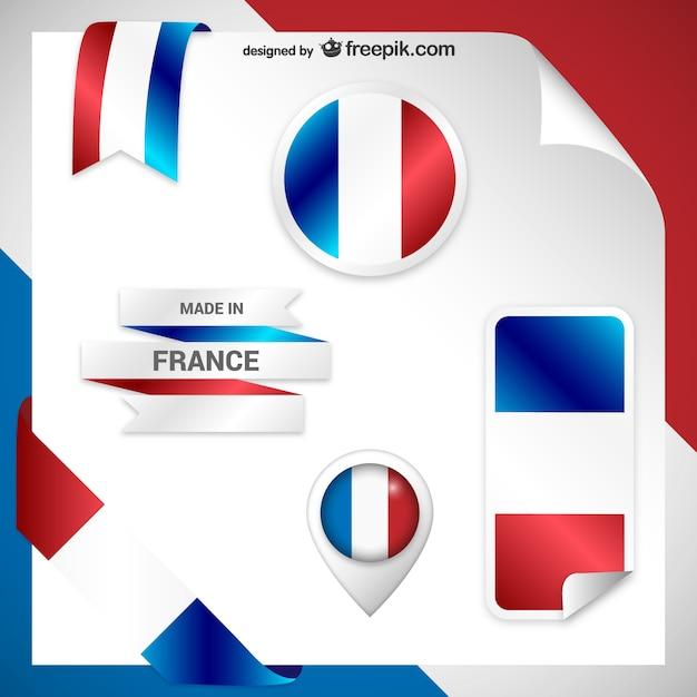 Frankrijk stickers Gratis Vector
