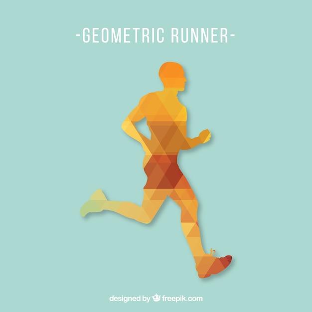 Free running man vector Gratis Vector