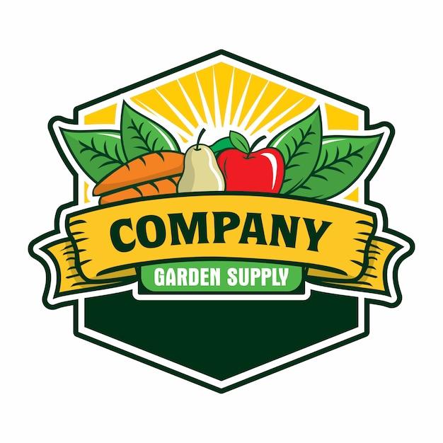Fruit en groenten logo Premium Vector