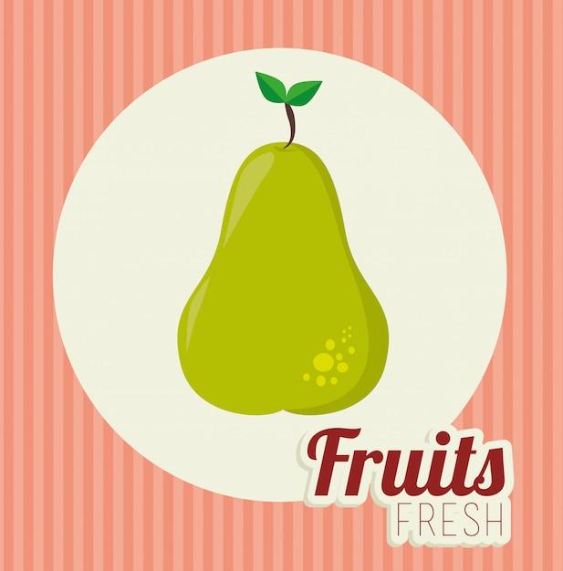 Fruit gezond voedsel illustratie Gratis Vector