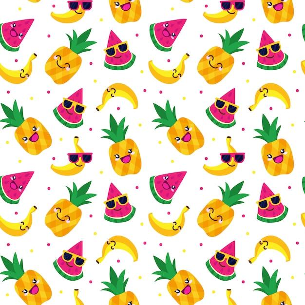 Fruit naadloos patroon Premium Vector