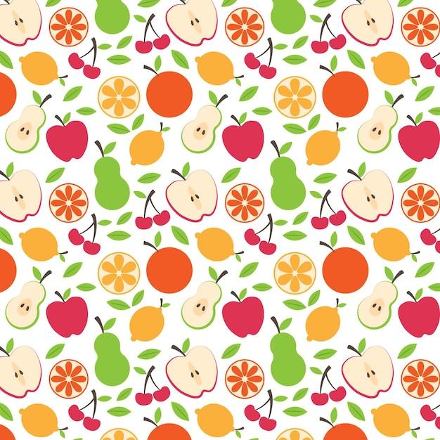 Fruit patroon collectie concept Gratis Vector