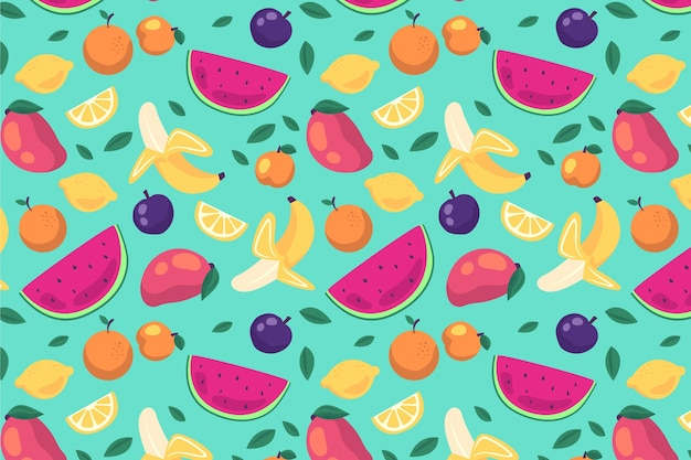 Fruit patroon concept Gratis Vector
